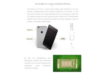 Smartphone zurückgesetzt APPLE iPhone 8 64GB grau anthrazit