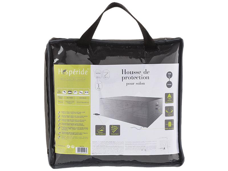 Schutzbezug für Gartensofa grau