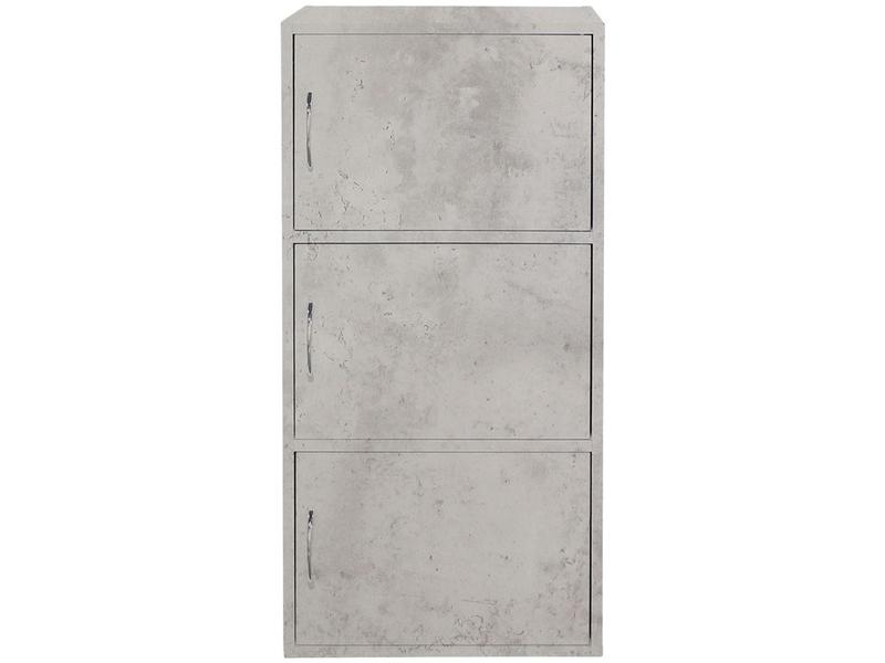 Bibliothek KIKI III beton 2 Tablare