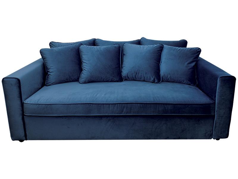 Big Sofa VELLUTO Samt,Stoff blau