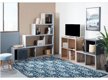 Regal ZOE III beton 6 Fächer