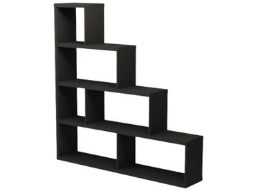 Regal ZOE III schwarz 6 Fächer