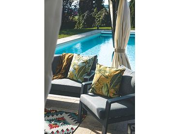 Gartensofa-Set MARSEILLE grau anthrazit