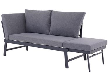 2er Gartensofa RESTSOFA polyester grau anthrazit