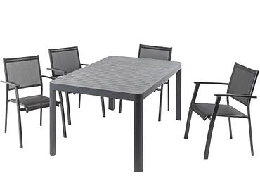 Gartentisch SLATS 100-240x180x75cm