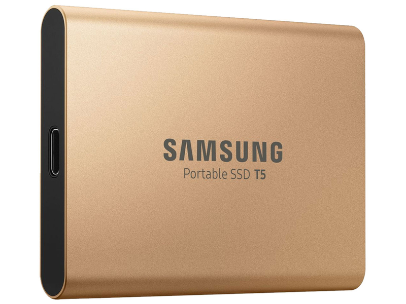 Festplatte SAMSUNG T5 500 GB SSD Gold