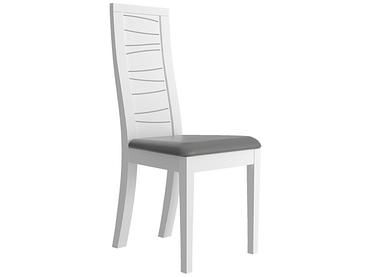 Stuhl TIAGO Holz weiss