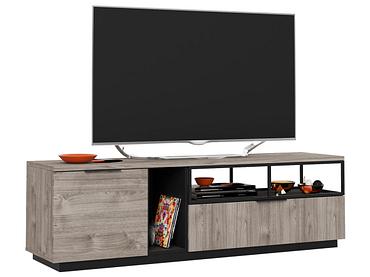 TV-Möbel SNAPP eiche, schwarz