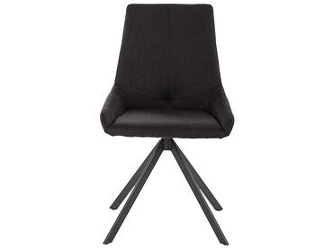 Stuhl SNAPP Stoff schwarz