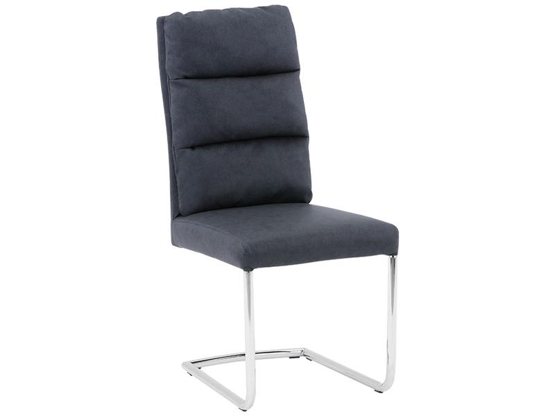 Stuhl GALA Synthetisches Leder schwarz