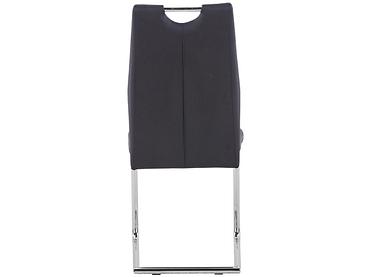 Stuhl AGNESSA Synthetisches Leder schwarz
