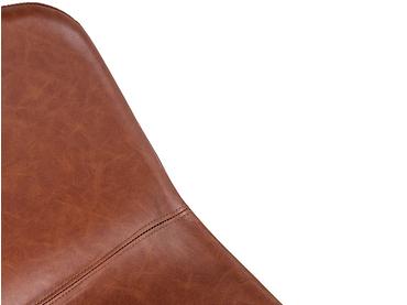 Stuhl JULIA Synthetisches Leder braun