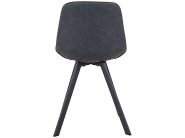 Stuhl JULIA Synthetisches Leder schwarz