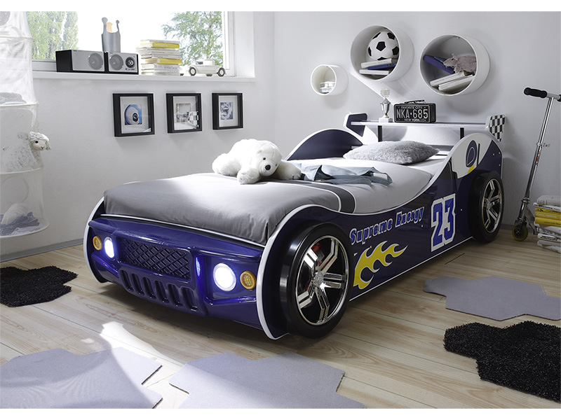 Bett ENERGY RACE 90x200cm blau