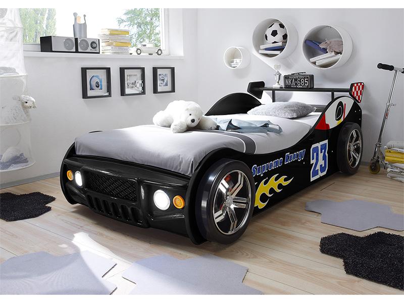 Bett ENERGY RACE 90x200cm schwarz