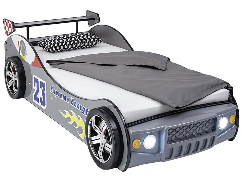 Bett ENERGY RACE 90x200cm grau