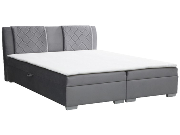 Boxspringbett BOXSPRING BY CONFO FAUST 160x200cm grau anthrazit