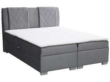 Boxspringbett BOXSPRING BY CONFO FAUST 180x200cm grau anthrazit