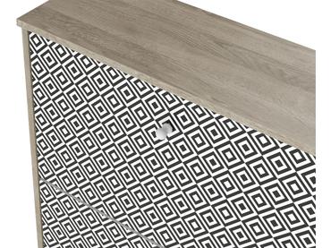 Schuhmöbel VINTAGE PRINT 3 Deckel grau