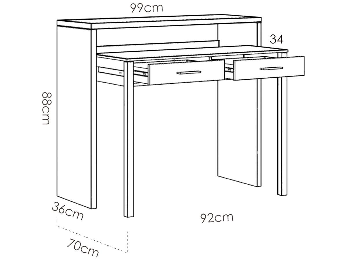 Schreibtisch CHIC weiss