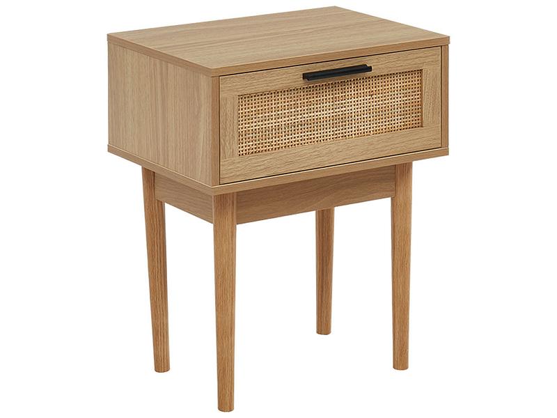 Nachttisch AMANA 1 Schublade Spanplatte,Rattan holz
