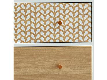 Kommode CAPUCINE 6 Schubladen Spanplatte weiss