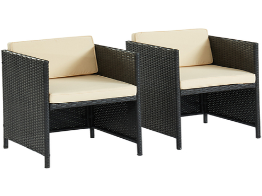 Set Gartentisch und Gartenstühle ZAFORA schwarz