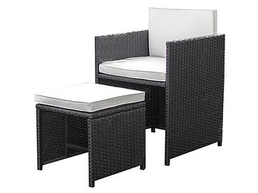 Set Gartentisch und Gartenstühle ZORA grau
