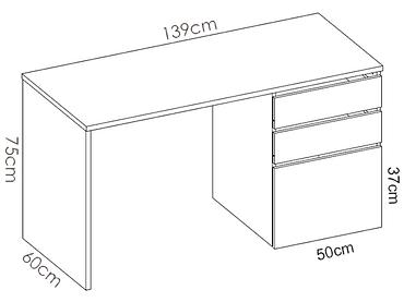 Schreibtisch SHIRO weiss