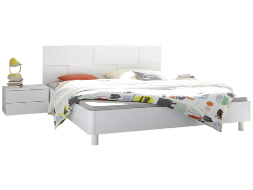 Bett mit 2 Nachttischen FIRENZE 180x200cm Lackiert weiss