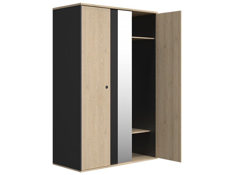 Schrank DUPLEX 2 Türen kastanie,schwarz