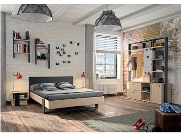 Lit DUPLEX 140x200cm noir