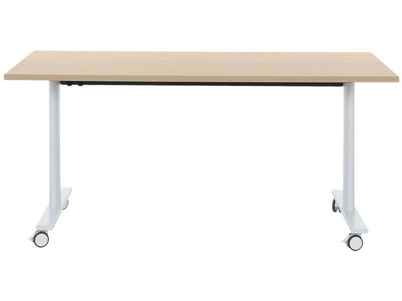 Klappbarer Tisch MEETING eiche,weiss
