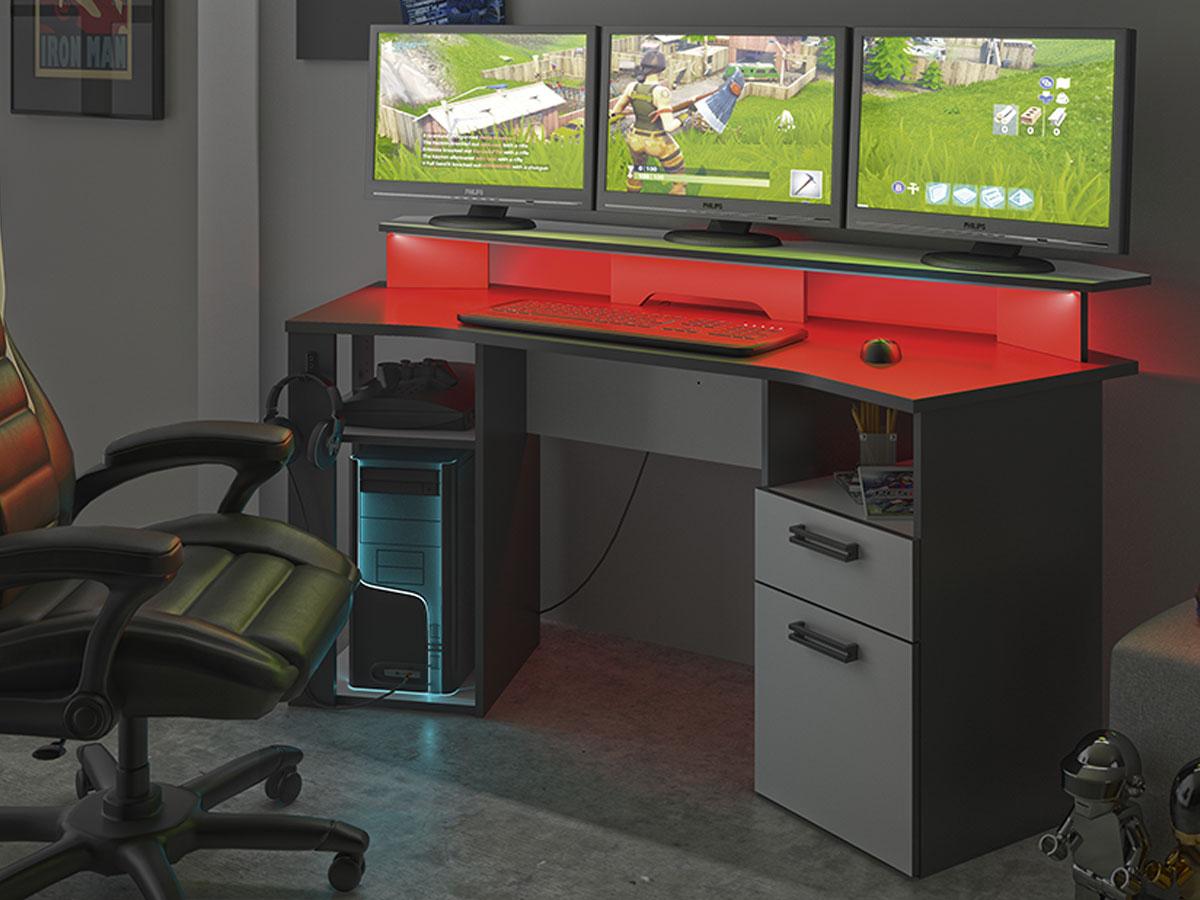 Bureau gaming INVADERS blanc