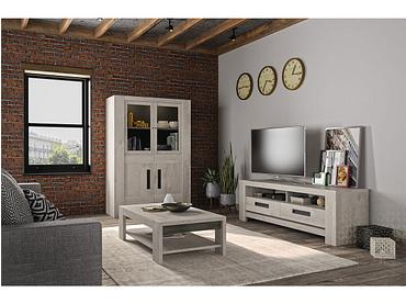 Meuble TV BOSTON chêne gris