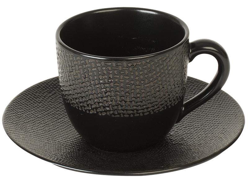 Tasse à café VESUVIO 12cl céramique noir