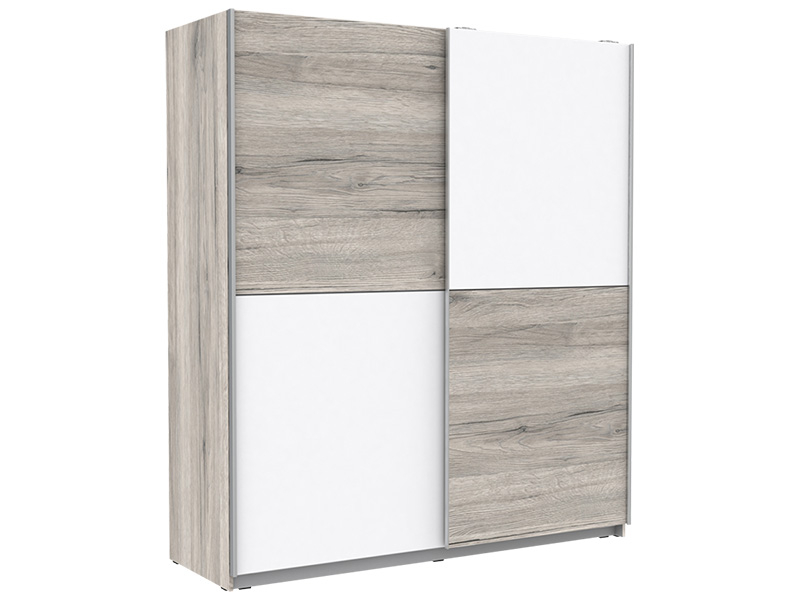 Armoire MUFFY 2 portes coulissantes chêne