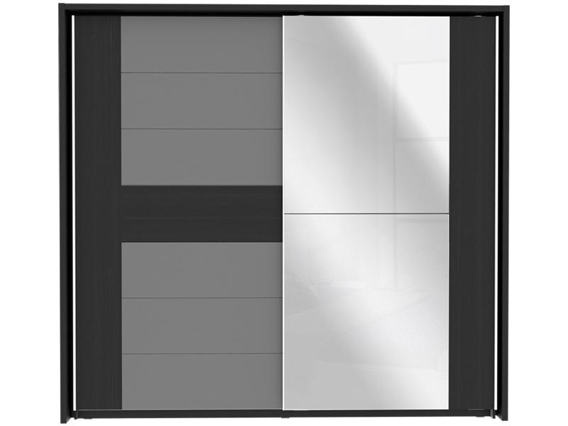 Armoire DOLCE BLACK 2 portes coulissantes chêne