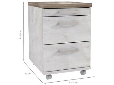 Caisson de bureau DURO 3 tiroirs chêne