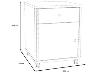 Caisson de bureau TEMPRA 1 tiroir sonoma