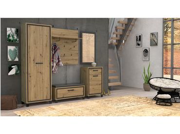Miroir rectangulaire TRONDHEIM 54.4x1.8x100cm chêne artisan