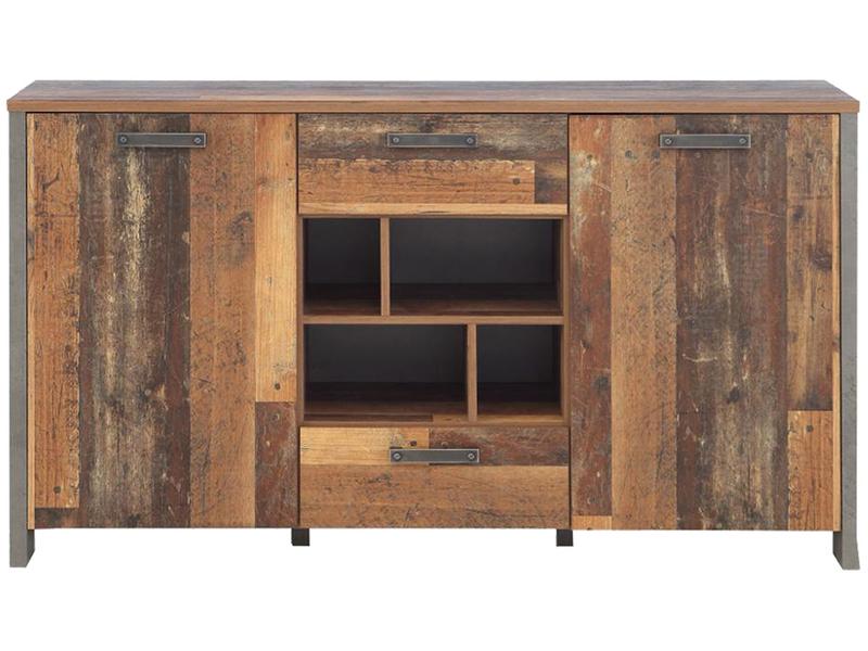 Commode CLIF 2 portes 2 tiroirs bois vintage
