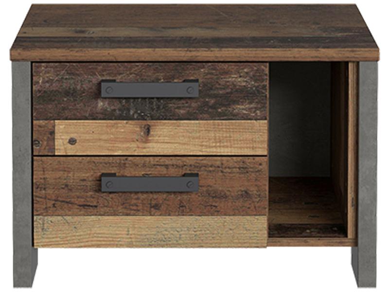 Chevet CLIF 2 tiroirs bois vintage