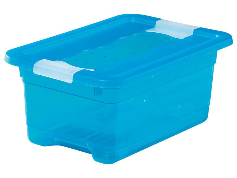 Boîte de rangement KRISTALLBOX bleu 19.5x29.5x12.5cm