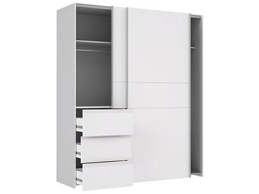 Armoire RAY 1 porte 2 tiroirs blanc