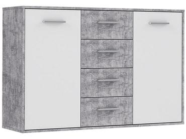 Commode ANTUZA 2 portes 4 tiroirs blanc