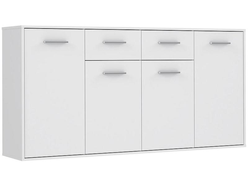 Commode EASY 4 portes 2 tiroirs blanc