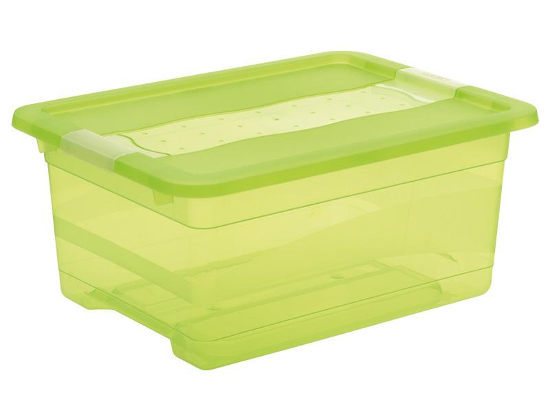 Boîte de rangement KRISTALLBOX vert 29.5x39.5x17.5cm