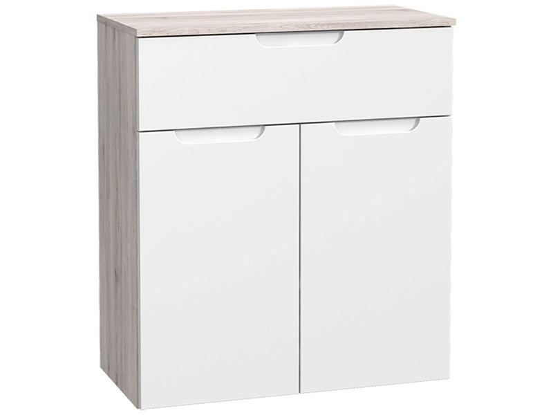 Commode MORENO 2 portes 1 tiroir blanc