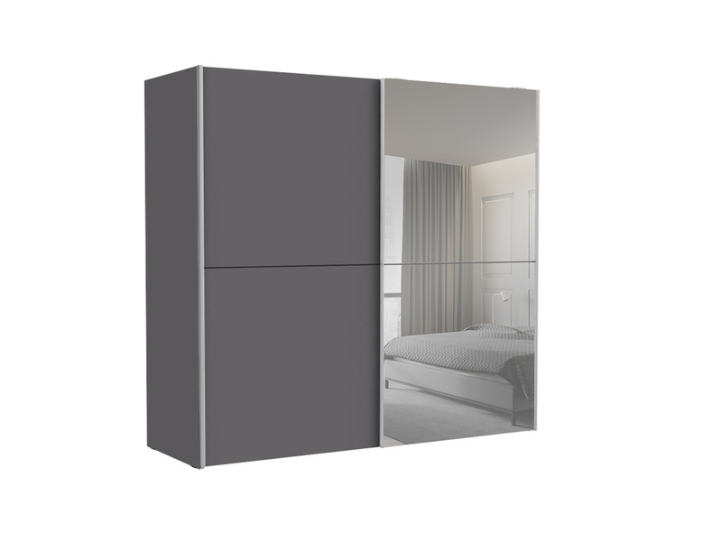 Armoire GENEVE 2 portes coulissantes anthracite